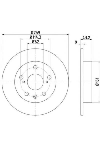 "Ferodo Fren Diski Arka Düz Karbonlu 259 5 Suzuki Sx4 ""1.6"" 13 Swıft 10 Vitara 15 Frd Ddf2493C"
