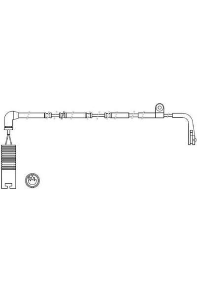 Ferodo Balata İkaz Kablosu Arka 1270Mm Land Rover Range Rover III Lm 4.4 3.0Td Frd Fwı315