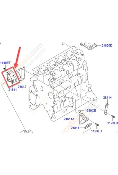 Korea Motor Kulağı H100 Kamyonet 12 Pos 1311Abtab1