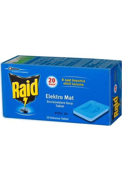 Raid Elektromat Tablet Sinek Kovucu