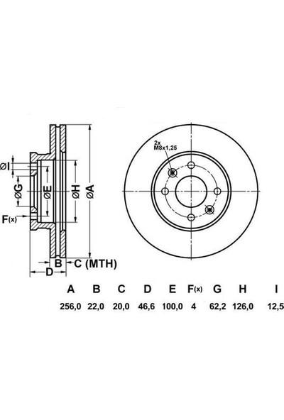 Mga Fren Disk Ön Hava Kanallı 256 4 Hyundai Accent III Era 05 Kia Rıo II Sw 05 Mga 50300