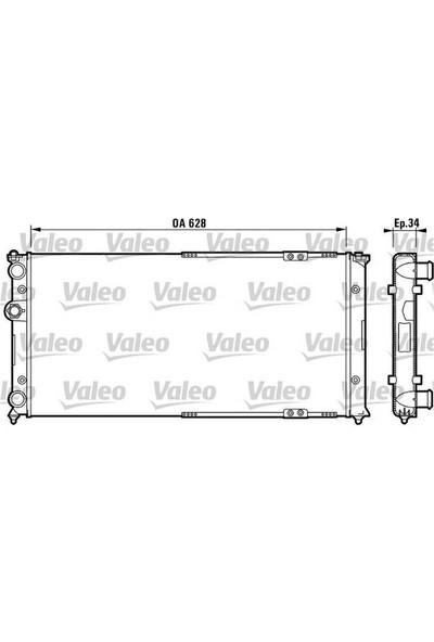Valeo Motor Radyatörü Klimasız Otomatık Caddy II 1.9D 1Y 95 04 Cordoba 94 99 Ibıza II 93 99