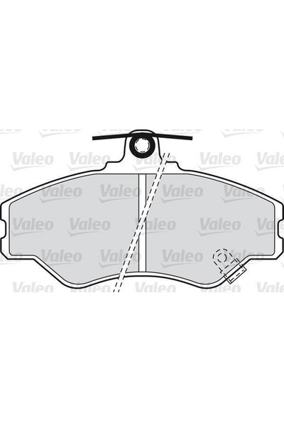 Valeo Fren Balatası Ön 129Mm H100 Mınıbus 93