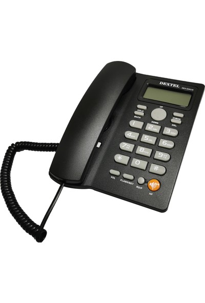 Dextel DEX-025 Ekranlı Kablolu Telefon Masa Telefonu Siyah