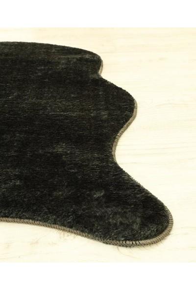 My Evilla Kaymaz Taban Peluş Post Siyah 75 x 100 cm