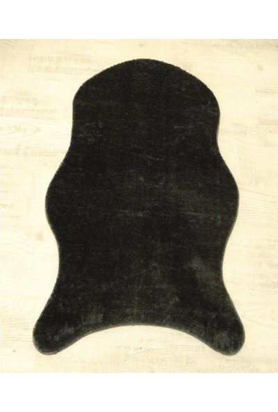 My Evilla Kaymaz Taban Peluş Post Siyah 100 x 150 cm