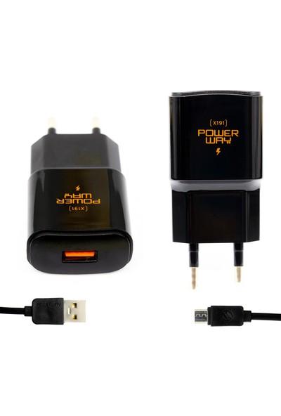 Powerway X191 5V 3000 mAh Hızlı Şarj Cihazı + Micro USB Kablo