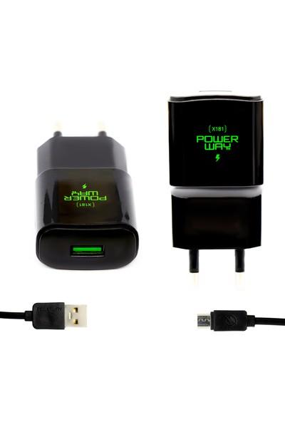 Powerway X181 5V 2000 mAh Şarj Cihazı + Micro USB Kablo