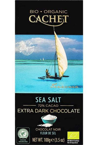 Cachet Bio Organik Deniz Tuzlu Belçika Bitter Çikolata %72 Kakao
