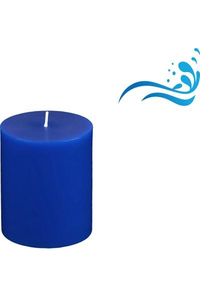 MumvemuM Okyanus Kokulu 7 x 10 Mavi Renk Silindir Mum