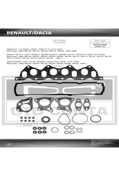 Oto-Conta Üst Takım Conta Keçelı Renault 1.9D F8Q Kangoo Express R19 Otc 40113003