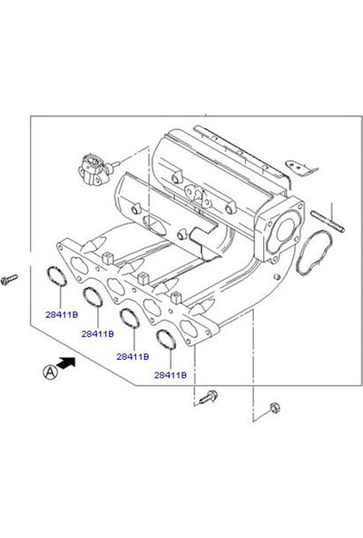 Oto-Conta Emme Manifold Contası 1.5 12V G4E A G4