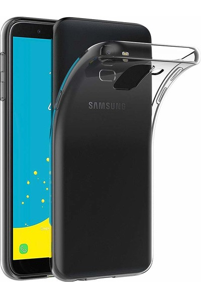 Melikzade Samsung Galaxy J6 Premium Şeffaf Silikon Kılıf