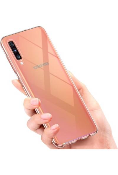Melikzade Samsung Galaxy A70 Premium Şeffaf Silikon Kılıf