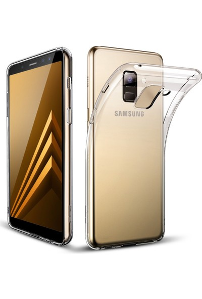 Melikzade Samsung Galaxy A8 2018 Premium Şeffaf Silikon Kılıf