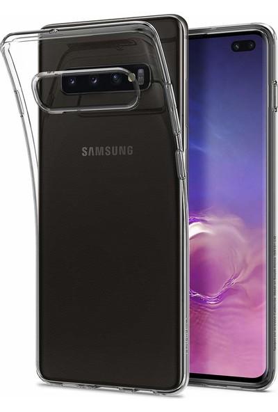 Melikzade Samsung Galaxy S10 Plus Premium Şeffaf Silikon Kılıf
