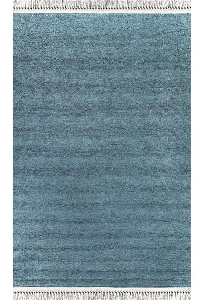 Foneks Halı Gümüş kilim 80 x 150 Mavi-Dekoratif Kilim