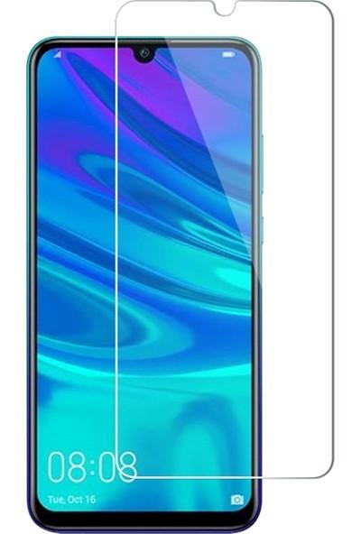 DVR Huawei P30 Lite Kılıf Silikon Dört Köşeli Lazer Kapak (Mavi) + Cam Ekran Koruyucu