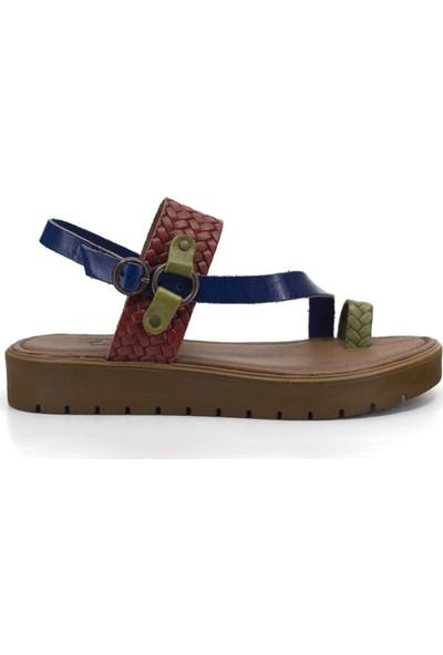 Eşle 9Y-407 Kadın Sandalet Karışıkçok Renkli