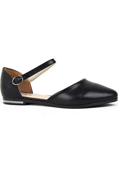 Annamaria Siyah Rahat Taban Düz Günlük Kadın Sandalet