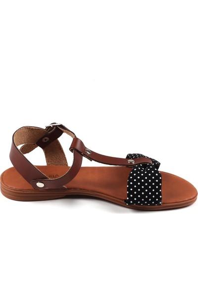 Annamaria Siyah Puantiyeli Kadın Sandalet