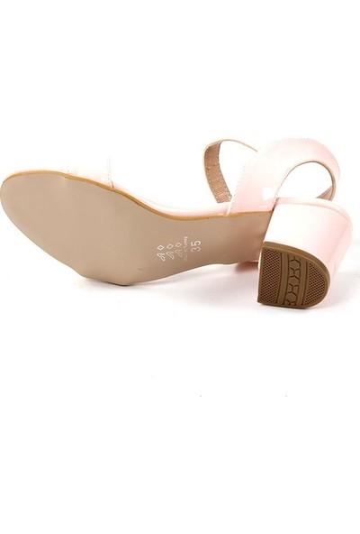 Ccway Pudra Günlük Kısa Topuklu Sandalet