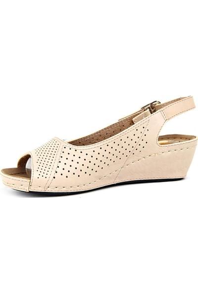 Jasmine Krem Günlük Kadın Sandalet Ayakkabı