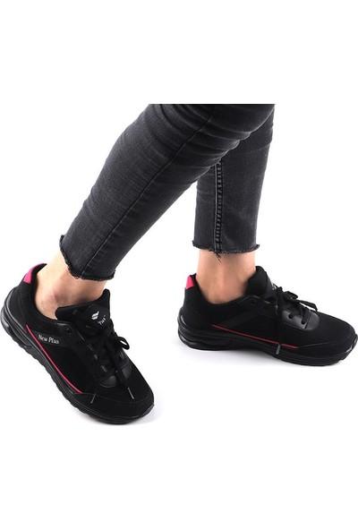 New Plus Siyah Günlük Yürüyüş Spor Ayakkabı
