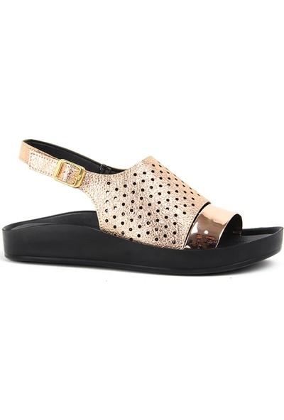 Voga Bakır Rahat Taban Günlük Kadın Sandalet