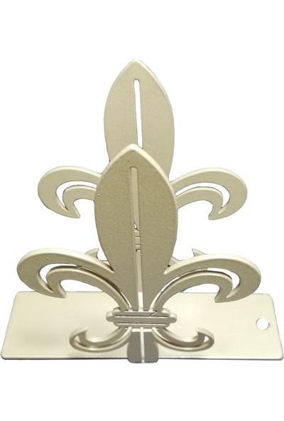 Simge Yapı Dekorasyon Rustik Zambak Figürlü Dekoratif Gold (Altın Rengi) Metal Peçetelik
