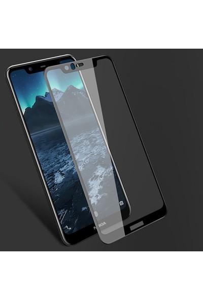Ally Nokia 5.1 Plus - X5 3D Full Kaplama Ekran Koruyucu Siyah