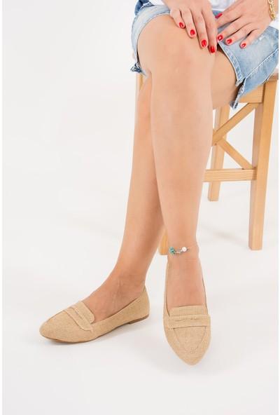 Fox Shoes Bej Kadın Babet D290092617