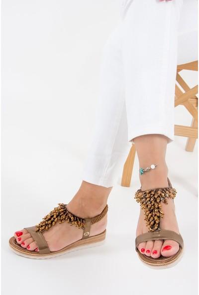 Fox Shoes Bakır Kadın Sandalet F490201314