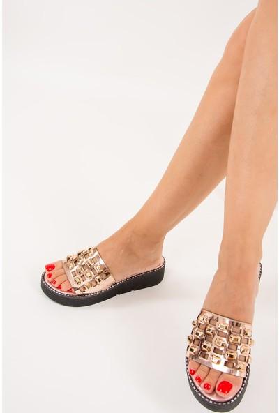 Fox Shoes Bakır Kadın Terlik F245001634