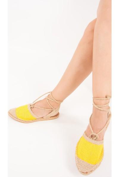 Fox Shoes Sarı Kadın Babet F472270017