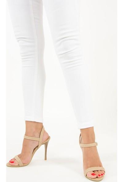 Fox Shoes Bej Kadın Topuklu Ayakkabı F643224717