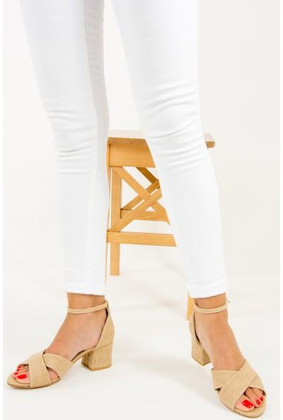 Fox Shoes Bej Kadın Topuklu Ayakkabı F654089317