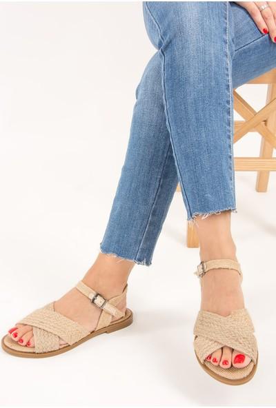 Fox Shoes Bej Kadın Sandalet F641893517
