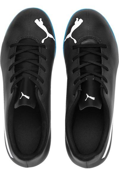 Puma Rapido Tt Jr Siyah Beyaz Mavi Erkek Çocuk Halı Saha Ayakkabısı