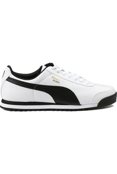 Puma Roma Basic White Siyah Erkek Spor Ayakkabı