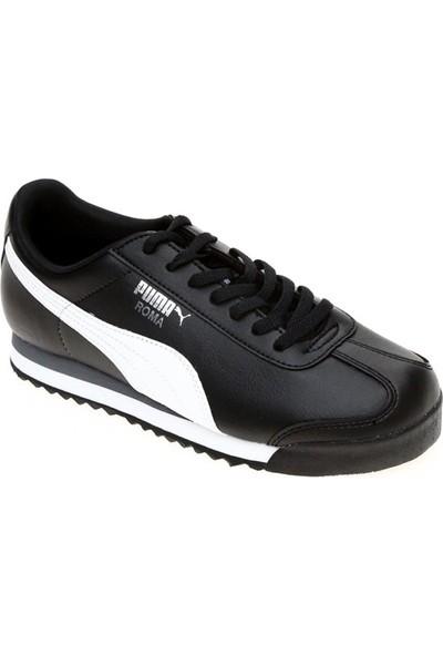Puma Roma Basic Jr Siyah-Beyaz Puma Silver Kadın Spor Ayakkabı 354259011