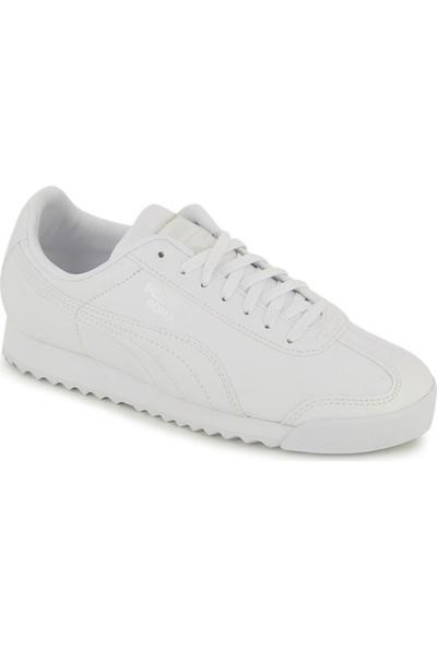 Puma Beyaz Genç Ayakkabısı 354259141 Roma Basic Jr
