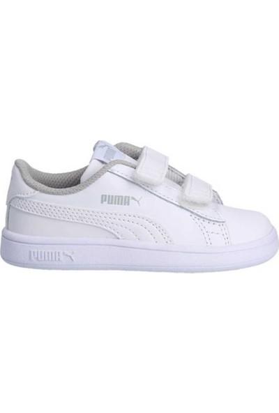 Puma Smash V2 L V Ps Beyaz Beyaz Unisex Çocuk Sneaker Ayakkabı