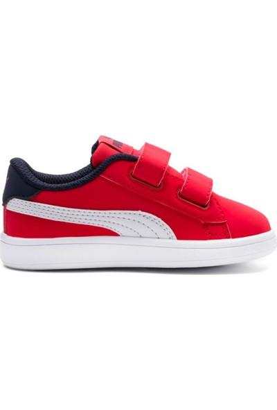 Puma Smash V2 Buck V Ps Kırmızı Beyaz Unisex Çocuk Sneaker Ayakkabı