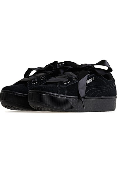 Puma Puma Vikky Ribbon. Siyah Siyah Kadın Sneaker