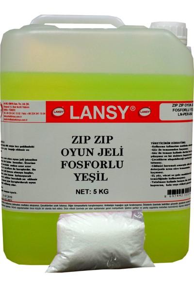 Lansy Zıp Zıp Oyun Jeli Fosforlu Yeşil 5 kg+200 gr Boraks