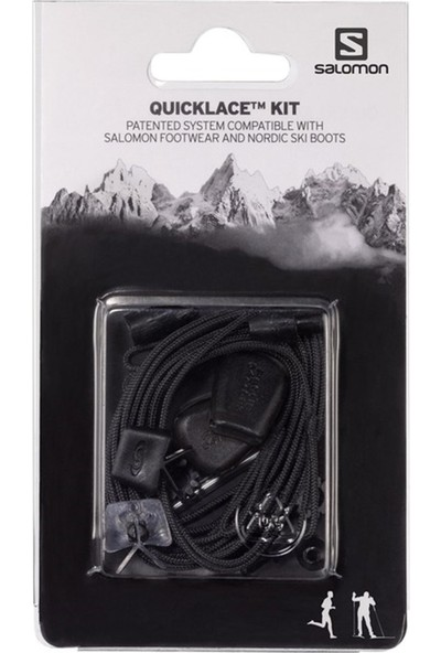 Salomon Quicklace Kit Siyah Ayakkabı Bağcığı