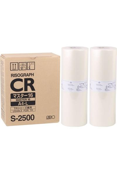 Riso S-2500 A4 Master Tr 1510-1530-1550 Cr 1610-1630