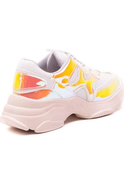 Mille Dale Günlük Giyim Kadın Ayakkabı Beyaz - Pembe