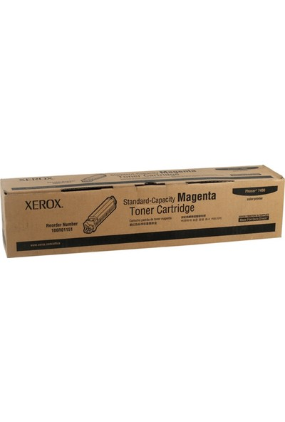 Xerox Phaser 7400 Kırmızı Toner 106R01151 9.000 Sayfa